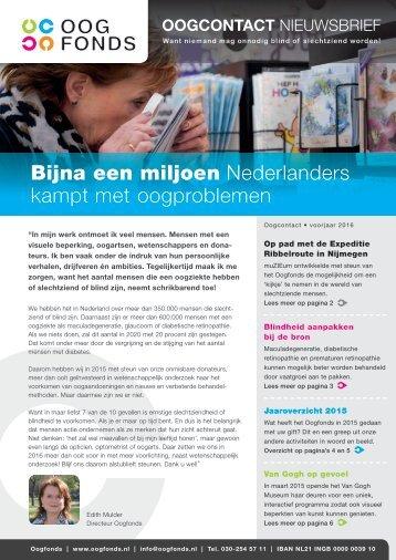 Bijna een miljoen Nederlanders kampt met oogproblemen