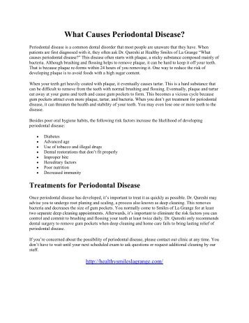 What Causes Periodontal Disease?