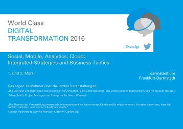 World Class DIGITAL TRANSFORMATION 2016