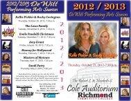 cole auditorium - Richmond Community College