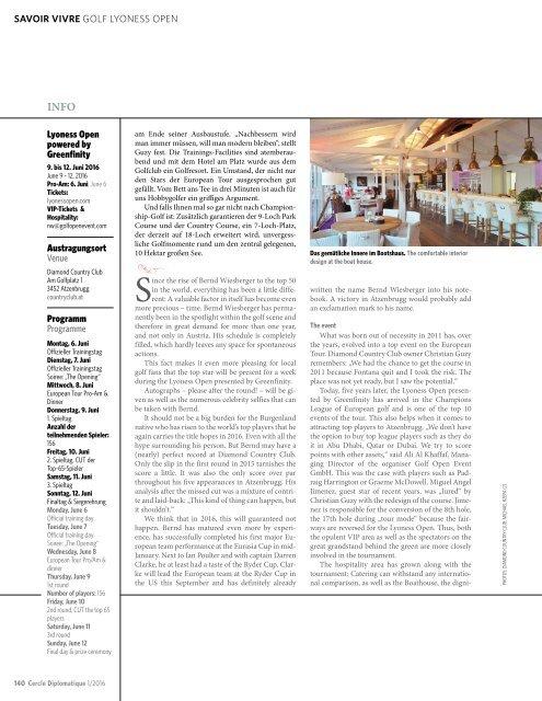 CERCLE DIPLOMATIQUE - issue 01/2016