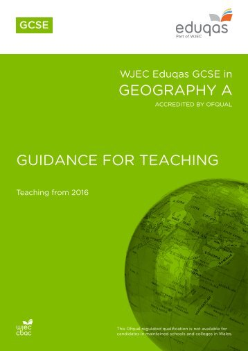 GEOGRAPHY A GUIDANCE FOR TEACHING