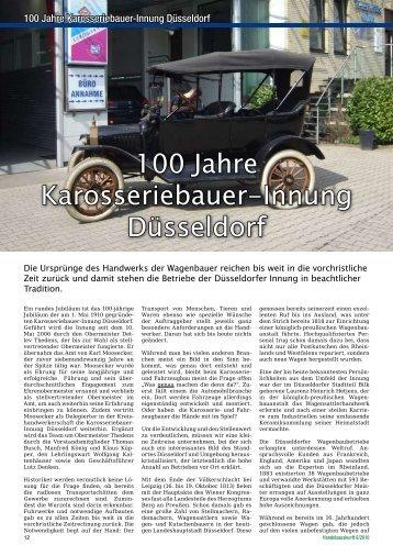 100 Jahre Karosseriebauer-Innung Düsseldorf - Handelsauskunft ...