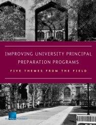 Improving University Principal Preparation Programs