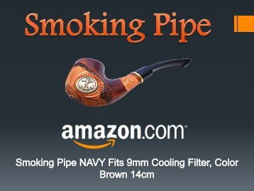 Smoking Pipe NAVY fits 9mm Cooling Filter - Amazon.com