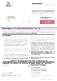 Form of Proxy - Annual General Meeting to be held on 5 ... - Xstrata