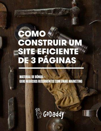 COMO CONSTRUIR UM SITE EFICIENTE DE 3 PÁGINAS