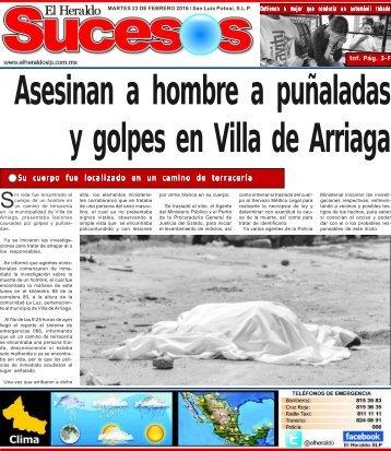 Asesinan a hombre a puñaladas y golpes en Villa de Arriaga