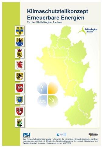 Erneuerbare Energien Konzept der StädteRegion Aachen