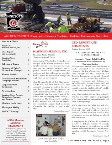 July 2005 - AGC - Associated General Contractors of Minnesota