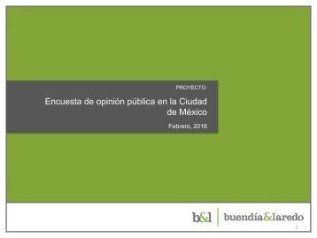 Encuesta de opinión pública en la Ciudad de México