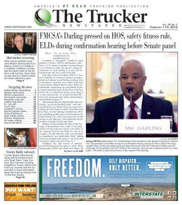 The Trucker Newspaper - February 1-14, 2016