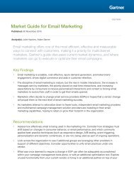 Market Guide for Email Marketing