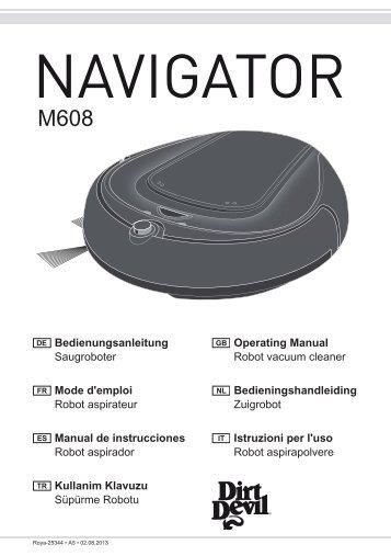 Dirt Devil Navigator - Bedienungsanleitung Dirt Devil M608 Saugroboter NAVIGATOR