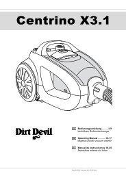 Dirt Devil Centrino X3.1 - Bedienungsanleitung Dirt Devil Centrino 3.1 M2012-3
