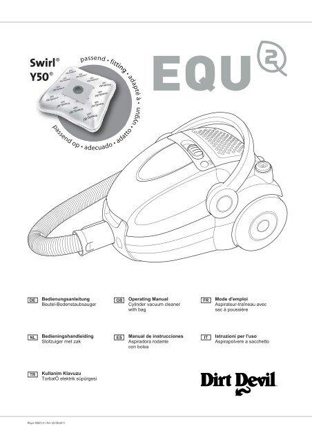 M 7103 10 Staubsaugerbeutel für Dirt Devil EQU 2 -0 bis -9 Filtertüten