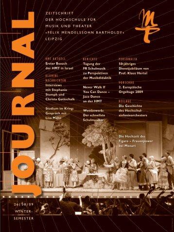 MT-Journal 26 - Hochschule für Musik und Theater Felix ...