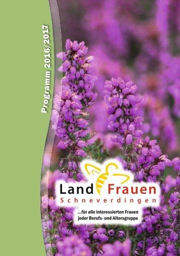 Landfrauen Schneverdingen - Programm 2016/17