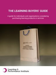 THE LEARNING BUYERS' GUIDE