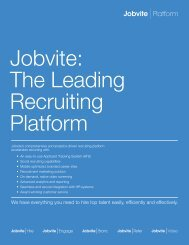 Jobvite The Leading Recruiting Platform