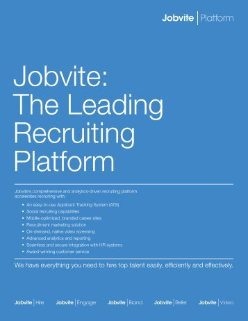 Jobvite The Leading Recruiting Platform