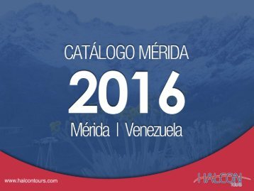 Halcon Tours - Mérida Catálogo 2016