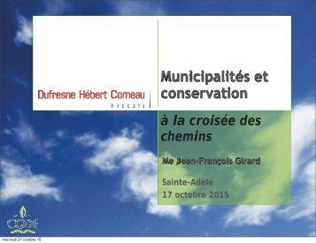 Municipalités et conservation