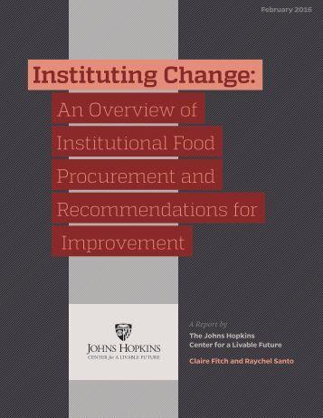Instituting Change