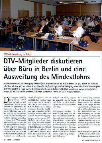 DTV-Mitglieder diskutieren über Büro in Berlin und eine ... - INTRASYS