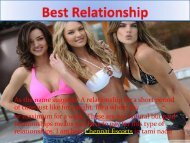 ShortTerm Relationships with Chennai escorts