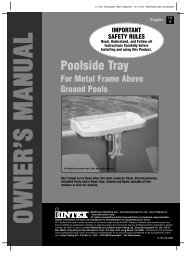 Poolside Tray - ++ above ground pools - intex ++