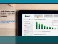 Global Car Carpet Market - Industry Analysis