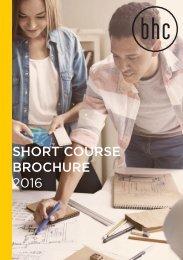 SHORT COURSE BROCHURE 2016
