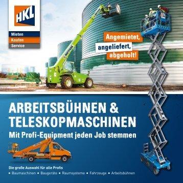 Arbeitsbühnen & Teleskopmaschinen in NRW