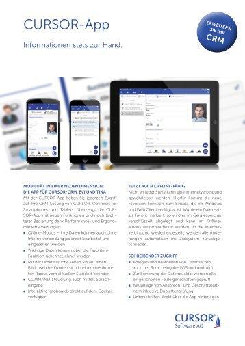 CURSOR-App Produktinformation