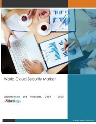Cloud Security Market - Opportunities and Forecasts, 2014 - 2020