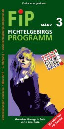 Fichtelgebirgs-Programm - März 2016
