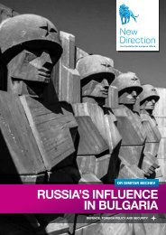 RUSSIA'S INFLUENCE IN BULGARIA