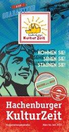 Veranstaltungskalender Hachenburger Kulturzeit 01/2016