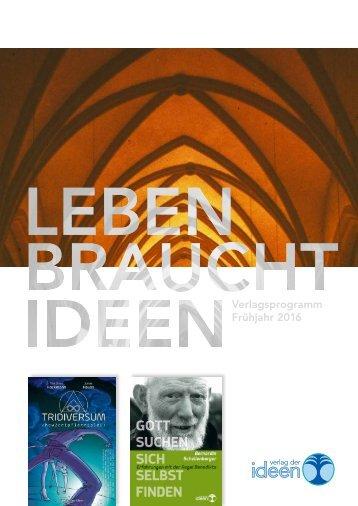Verlag der Ideen – Verlagsprogramm Frühjahr 2016
