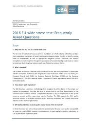 2016 EU-wide stress test Frequently Asked Questions