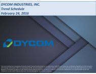 DYCOM INDUSTRIES INC Trend Schedule February 24 2016