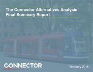 The Connector Alternatives Analysis Final Summary Report