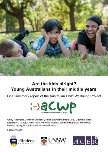 Are the kids alright? Young Australians in their middle years