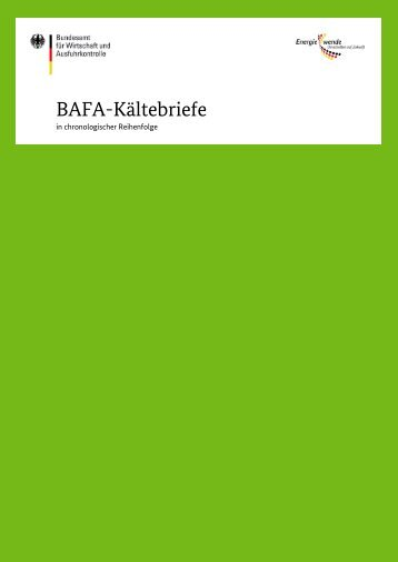 BAFA-Kältebriefe