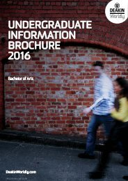 UNDERGRADUATE INFORMATION BROCHURE 2016