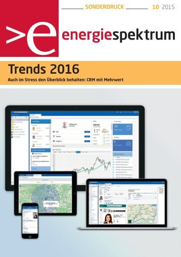 Trends 2016, CRM und Prozessmanagement, energiespektrum 10-2015