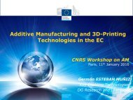 Additive Manufacturing and 3D-Printing Technologies in the EC