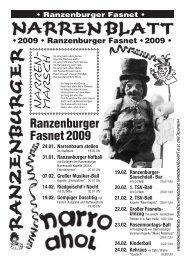 Narrenzeitung 2009 - Ranzenburger Narrenzunft eV
