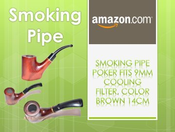 Smoking Pipe POKER fits 9mm Cooling Filter, Color Brown - Amazon.com